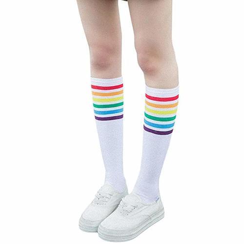 calcetines lgbt, lgtbi, transexsual, transxesuales, calcetines altos, calcetines negros, medias, calcetines personalizados, calcetines blancos largos, calcetines altos