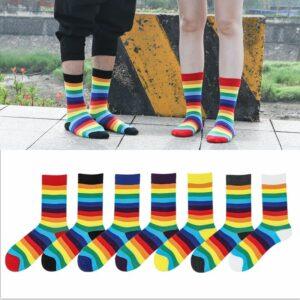 calcetines bandera del orgullo gay barato marcas de calcetines