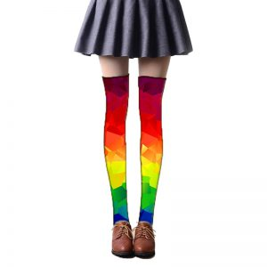 calcetines estampados colores de arcoiris lgbt