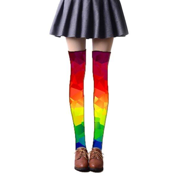 calcetines estampados colores de arcoiris lgbt