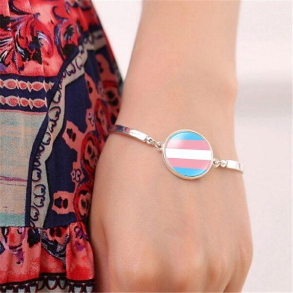 pulsera lgbt manilla lgbt bistueria fina barata joyeria lgbt transexual pansexual asexal demisexual comprar pulsera
