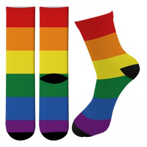 orgullo gay calcetines altos lgbt estampados coloridos pride love
