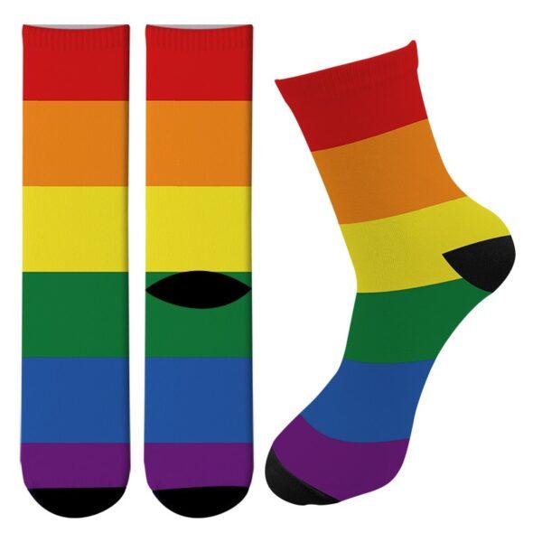 orgullo gay calcetines altos lgbt estampados coloridos pride love