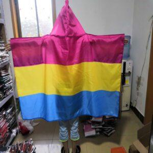 capa con banderas colectivo pnasexual colores pansexual todas las banderas lgbt orgullo