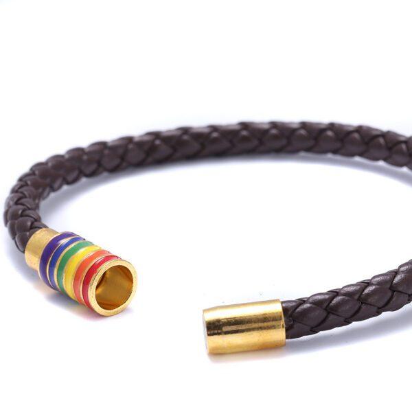 pulsera del orgullo lgbt pulsera de cuero brazalete gay madrid bilbao