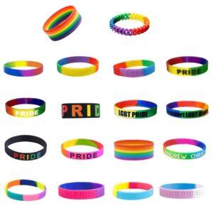 pulsera lgbt elastica latex goma arcoiris orgullo pride fiesta gay pulsera de lesbianas bisexual bisexuales silicona