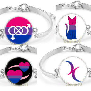 pulsera lgbt orgullo bisexual pareja bisexual regalo lgbt colores bi bisexual pride joyeria lgbt bisuteria