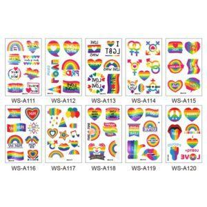 Tatuaje temporal Set Orgullo Gay LGBT Pride Igualdad Tatuajes Temporales calcomanias LGBT pareja lesbiana