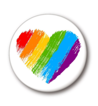 Pines orgullo LGBT corazón arcoíris arco iris pride gay lesbiana bisexual