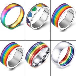 anillos bisuteria barato online LGBT barata elegante para gay parejas orgullo