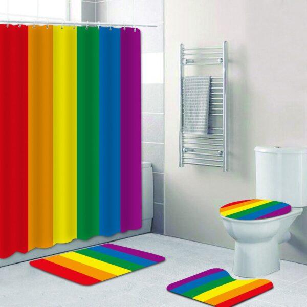 gay cortina lgbt baño cortina impermeable cortina ducha