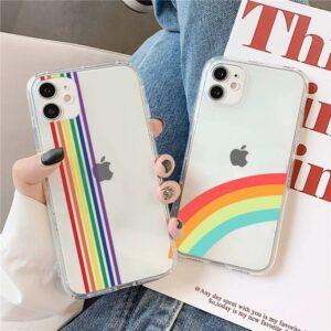 funda lgbt iphone arcoiris 11 12 pro max 6 7 8 6s mini celular pride case